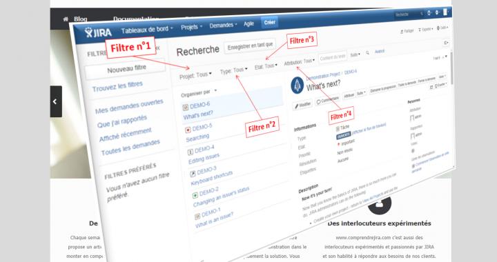 4 filtres de base du navigateur de demandes JIRA