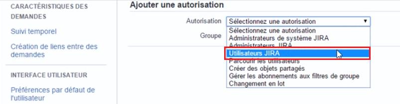 """: L'autorisation """"Parcourir les utilisateurs"""" dans la liste des autorisations globales"""