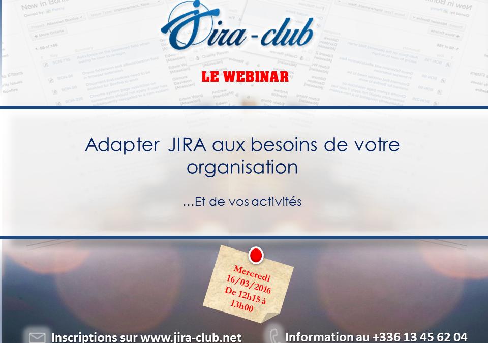 Webinar : Adapter JIRA aux besoins de votre activité