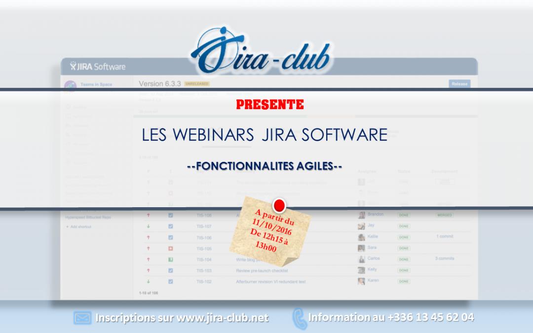 JIRA Software – Les fonctionnalités agiles – webinars