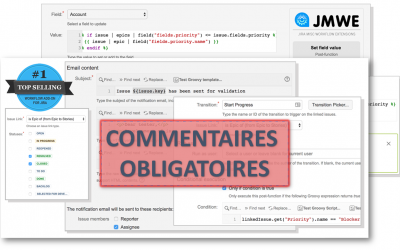 Comment rendre un commentaire obligatoire sur une transition avec le plugin JIRA Misc Workflow Extension